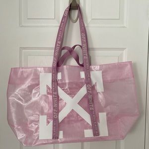 Off-White Pink Arrows Tote Bag
